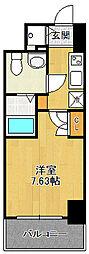 エス・キュート尼崎2 9階1Kの間取り