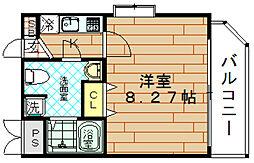 ディナスティ福島2[11階]の間取り