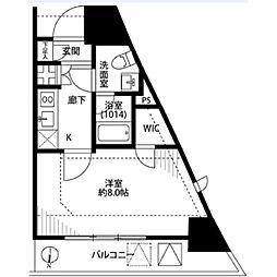 プレール・ドゥーク東京EASTIII[1005号室]の間取り
