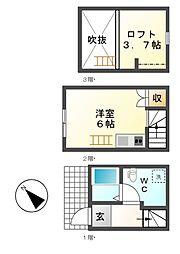 ワンラブ港栄[1階]の間取り