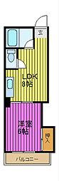 西川口グリーンマンション[6階]の間取り