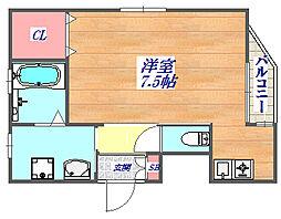 兵庫県神戸市灘区永手町5丁目の賃貸マンションの間取り