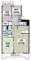 エスポワールSK-B[4階]の間取り