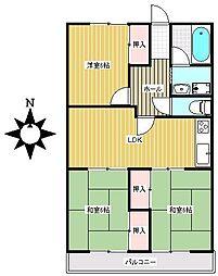 愛知県瀬戸市水南町の賃貸マンションの間取り