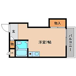 奈良県大和高田市高砂町の賃貸マンションの間取り
