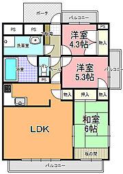 アル・カーザ五軒町(706号室)[7階]の間取り