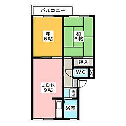 プレジール稲垣[2階]の間取り