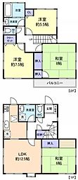 [一戸建] 千葉県八千代市ゆりのき台8丁目 の賃貸【/】の間取り