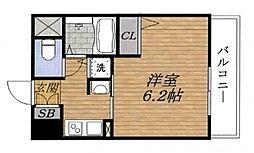 エステムコート新大阪VIエキスプレイス[8階]の間取り