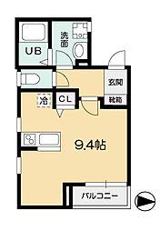 リーリエ瀬田[2階]の間取り