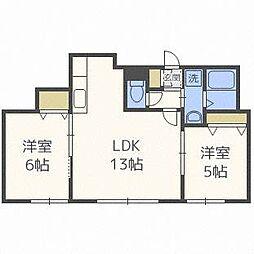 ハイドパーク512[2階]の間取り