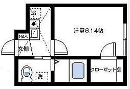 エスポワール杉田[1階]の間取り