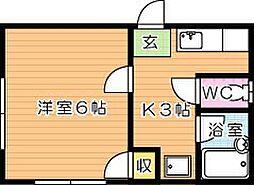 イースピア浅川[1階]の間取り