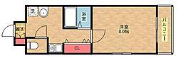 フォレストインサイドII[5階]の間取り