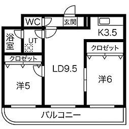 プレシャス23[2階]の間取り