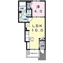 徳島県徳島市庄町5丁目の賃貸アパートの間取り
