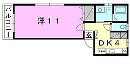 コーポTOITA[102 号室号室]の間取り