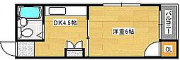 シャルム西加賀屋[3階]の間取り