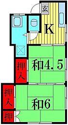 青木荘[2階]の間取り