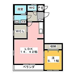 ハッピーコート[3階]の間取り