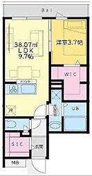 西麻布YKマンション[4階]の間取り