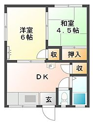 鷹取ハイム[2階]の間取り