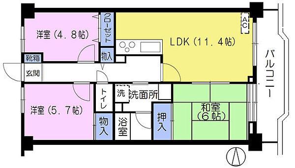 第2みなもとマンション[302号室]の間取り