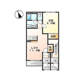 ウィステリアII[1階]の間取り