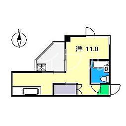 クリエート原[3階]の間取り