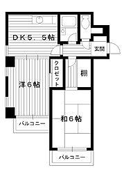東京都練馬区氷川台の賃貸マンションの間取り