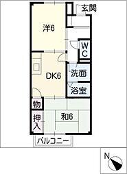 Angel house東山[1階]の間取り