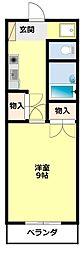 愛知県豊田市栄町7丁目の賃貸アパートの間取り