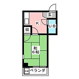 ナカムラパークビル[5階]の間取り
