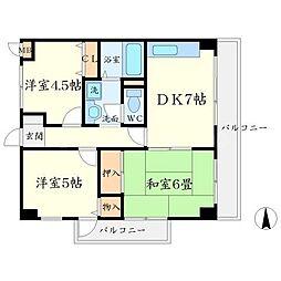 T-COURT[2階]の間取り