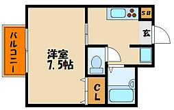 ハイツ鷹ヶ峰[1階]の間取り
