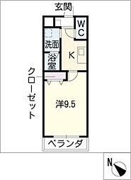 ロイヤルコート天王[3階]の間取り