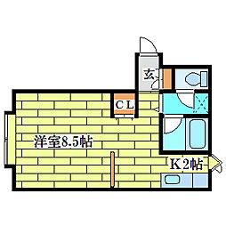デベックス清田[3階]の間取り
