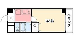 阪神本線 鳴尾・武庫川女子大前駅 徒歩4分の賃貸マンション 6階1Kの間取り