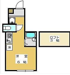 東京都大田区蒲田3丁目の賃貸アパートの間取り