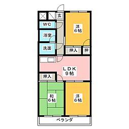 アムールKATO[3階]の間取り