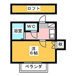 藤枝レジデンス[2階]の間取り