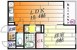 サザンクロス east[1階]の間取り