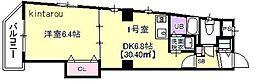 Victorian Court Chiba[301号室]の間取り