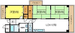 ローズバットフラット[5階]の間取り