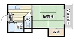 大阪府高槻市野見町の賃貸アパートの間取り