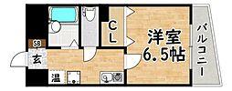 JR関西本線 平野駅 徒歩7分の賃貸マンション 2階1Kの間取り