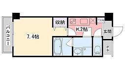Dear Nishinomiya Station Front[707号室]の間取り