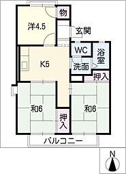 コーポエルノリタケ[2階]の間取り