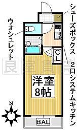 愛知県名古屋市千種区日進通1丁目の賃貸マンションの間取り