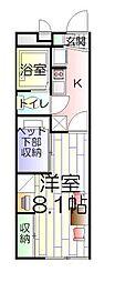 東京都葛飾区新宿1丁目の賃貸アパートの間取り